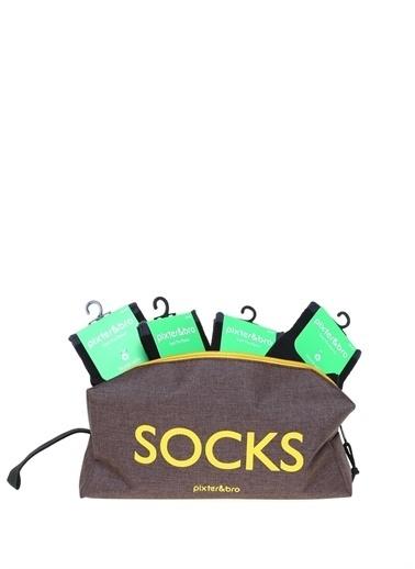 Pixter&Bro Pixter&Bro 12'li Çanta Hediyeli Çorap Siyah